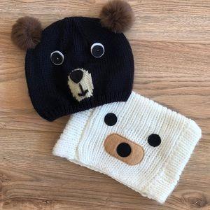 (2) FOREVER 21 BEAR BEANIES